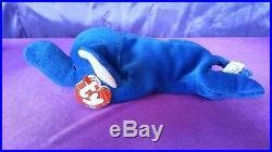 1993 Ty Beanie Baby Babies Royal Blue Elephant Peanut Style 4062 RARE