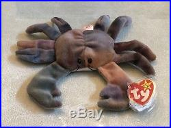 1996 Ty Beanie Baby CLAUDE The Crab with Errors- Retired And Extremely Rare