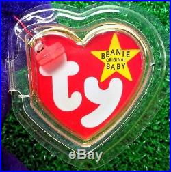 1997 Princess Diana Bear Ty Beanie Baby China PVC No Space & RARE Charm Necklace