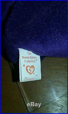 1997 Rare Ty Princess Diana Beanie 1st Generation Look P. V. C. Pellets