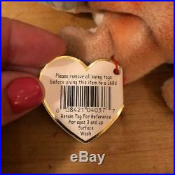 1997 Ty Beanie Babies Rainbow RARE with tongue and no spikes Retired