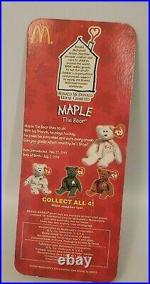 1997 Ty MAPLE the Bear McDonald's Teenie Beanie Retired With Multi Errors RARE