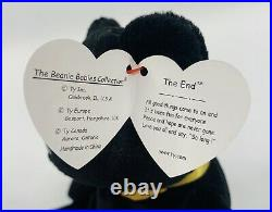 1999 Ty Beanie Baby THE END BEAR With RARE errors! (Read Description)
