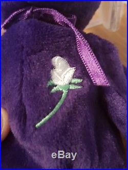 1st Edition, Ultra Rare 1997 Ty Beanie Baby Bear Princess Diana P. E. Pellets