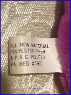 1st GENERATION! RARE Patti Platypus 4025 Beanie Baby with tag errors Original 9