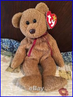 d48cc39c1a6 2 Retired Rare 4052 Ty Curly Bear Beanie Babies with Valuable Errors ...