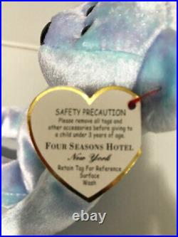 2000 HT RARE TY ISSY NY NEW YORK FOUR SEASONS HOTEL Beanie Authenticated/Sealed