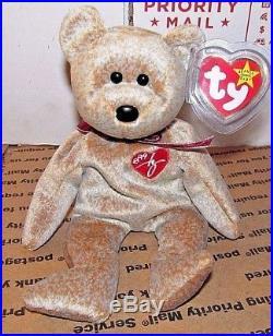 7b9a9aa688e AUTHENTIC TY BEANIE BABY 1999 SIGNATURE BEAR RARE RETIRED Error On ...