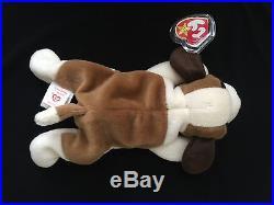 All Collectors RARE TY Beanie Babies BERNIE Dog ERROR PVC China Canada TAG