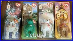 All Four 1999 McDonalds Ty Beanie Baby with rare errors 1993, OakBrook