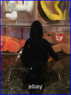 Authentic Rare Caw the Crow 3rd/2nd Generation Ty Beanie Baby MWMT-MQ