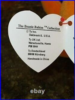 Authentic Rare ORANGE DIGGER the Crab 3rd/1st Gen Ty Beanie Baby MWMT-MQ