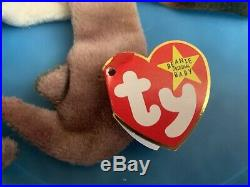 Authentic Rare TY Beanie Baby CLAUDE The Crab with errors