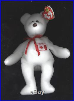 Authentic TY MAPLE PRIDE CANADA Beanie Baby Bear MWMT Museum Quality VERY RARE