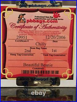 Authenticated CHILLY the Polar Bear Rare 2nd/1st Gen Ty Beanie Baby
