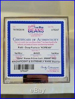 Authenticated EXTREMELY RARE! Ty Patti (Deep Fuchsia) KOREAN MWMT-MQ