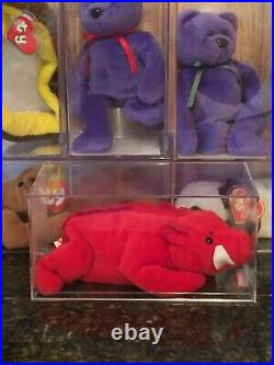 Authenticated Rare GRUNT the Razorback 3rd/2nd Generation Ty Beanie Baby MWMT-MQ