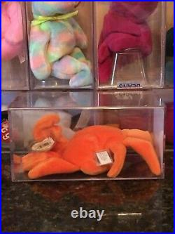 Authenticated Rare Orange DIGGER the Crab 3rd/1st Generation Ty Beanie Baby