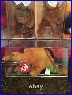 Authenticated Rare STEG the Stegosaurus/ Dino 3rd/1st Gen Ty Beanie Baby MWMT-MQ