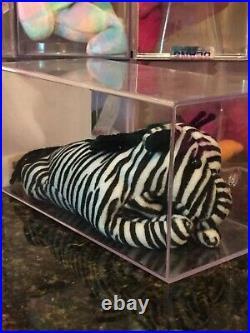 Authenticated Rare ZIGGY the Zebra 3rd/2nd Generation Ty Beanie Baby MWMT-MQ