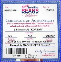 Authenticated TY WARNER Signed Korean BILLIONAIRE 2 Beanie ULTRA RARE MQ