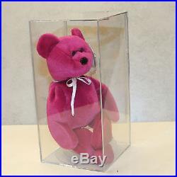 Authenticated Teddy NF Magenta (Rare) MWMT MQ 2nd gen Ty Beanie baby (AP)