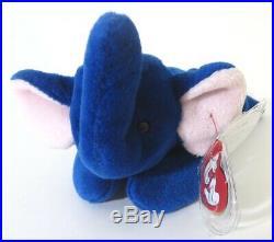 Authenticated Ty Beanie 3rd Gen UK Version ROYAL BLUE PEANUT Ultra Rare MWMT MQ