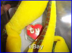 Authenticated Ty Beanie Baby 2nd Gen SLITHER! RARE