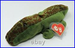 Authenticated Ty Beanie Baby Ally Alligator 1st Gen Rare Hard To Find