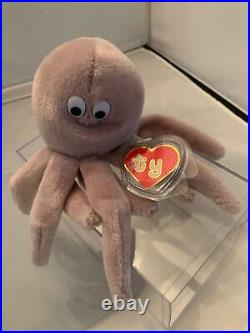 Authenticated Ty Beanie Baby Inky Tan Gray witho Mouth Rare 1st/1st Gen MWNMT