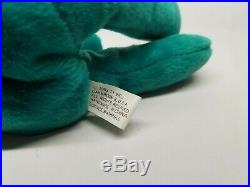Authenticated Ty Beanie Baby Old Face OF Teal Teddy Rare 1st/1st Gen Tag MWNMT