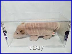 Authenticated Ty Beanie Baby PROTO Tank 9-Line Tan Prototype Rare PAX Tush MQ