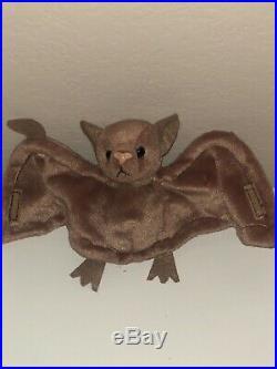 Batty the Bat Beanie Baby TY Batty the Bat Rare tag errors! Vintage 1996