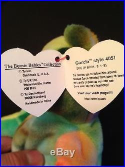 Beanie Babies Garcia the Bear RARE misprint swing tag PVC Beanie Baby