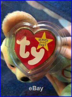 Beanie Baby Colorful Rare Peace Bear