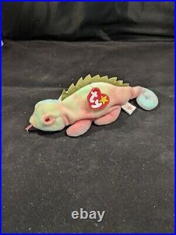 Beanie Baby Iggy the Chameleon Retired, Error And Rare (1997)