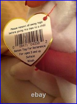 Beanie Baby VALENTINO RARE misspelling errors 94 hang & 93 tush tag