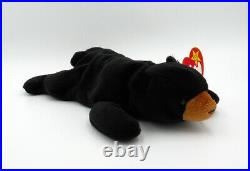 Blackie The Bear Ty Beanie Baby ULTRA RARE VINTAGE ORIGINAL Retired withErrors
