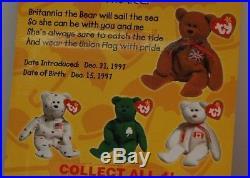Britannia Bear-1997 McDonald's Ty Beanie Baby With Rare Errors 1993 OakBrook
