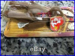 Britannia The Bear 1997 McDonalds Ty Beanie Baby Rare Errors OakBrook, Brand New