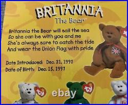 Britannia the Bear ERRORS McDonalds Retired Ty Teenie Original Beanie Baby RARE