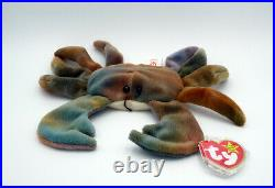 CLAUDE the CRAB Ty Beanie Baby AUTHENTIC MWMT RARE Style #4083 Retired with ERRORS