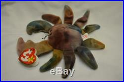 Claude The Crab Ty Beanie Baby Babies Rare Error Name In Capital
