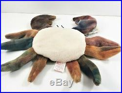 Collectible TY Beanie Baby Claude the Crab 1996 Retired Rare EUC Errors