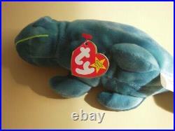 EXTREMELY EXTREMELY Rare TY Beanie Baby Iggy Iguana Spikes 1997