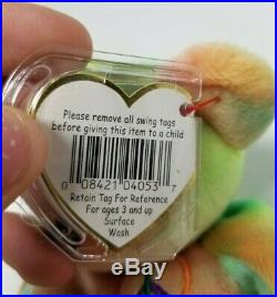 EXTREMELY RARE 1996 Ty Beanie Babies Peace Bear ERRORS RETIRED July 14, 1996