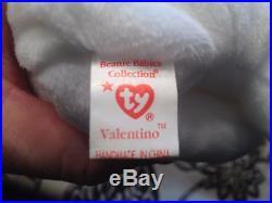 EXTREMELY RARE Valentino beanie baby 3 errors PVC 1993 retired
