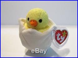 Eggbert Ty Beanie Baby-rare Eggbert-chick In Egg Ty Beanie Baby-multiple Errors