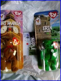 Erin Bear Britannia Bear Ty Vintage Beanie Babies Retired McDonalds Rare 1999