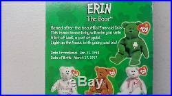 Erin The Bear Ty Teenie Beanie Mcdonalds Charity Rare Tag Errors